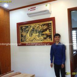 Hình ảnh lắp đặt Tranh Đồng Treo Tường cho Biệt Thự ở Lào Cai