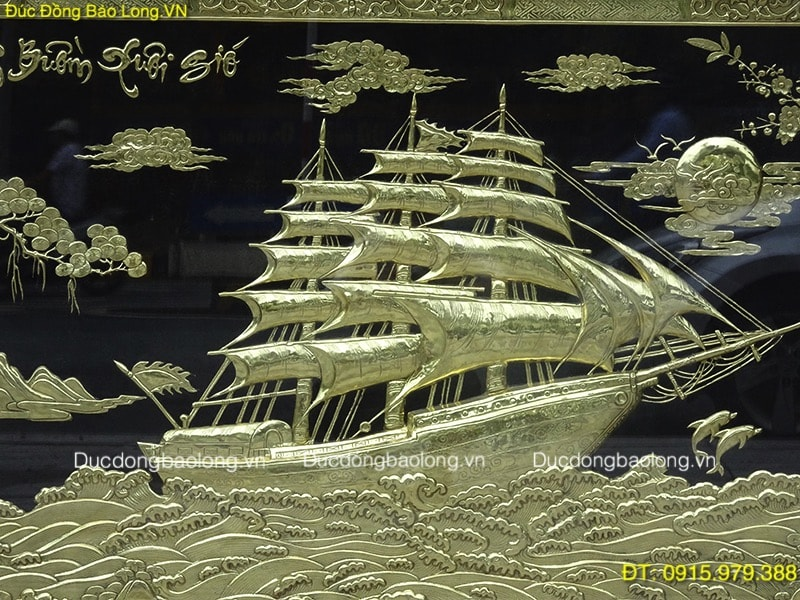 Tranh Thuận Buồm Xuôi Gió 2m3 treo ở TPHCM