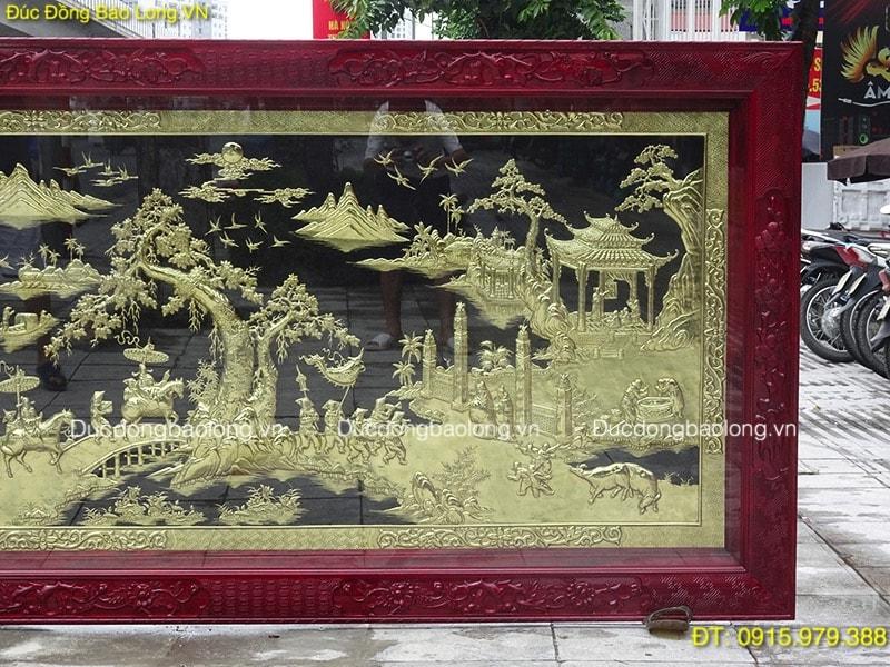 Tranh Vinh Quy Bái Tổ Đẹp dài 2m31 khách Lâm Đồng
