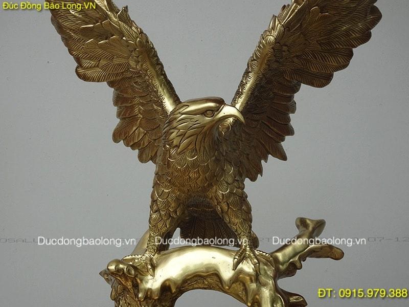 Biểu Tượng Chim Đại Bàng đúc bằng đồng cát tút cao 42cm