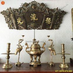 Lưu Ý Khi Mua Đỉnh Đồng Thờ Gia Tiên, bộ đỉnh thờ cúng bằng đồng