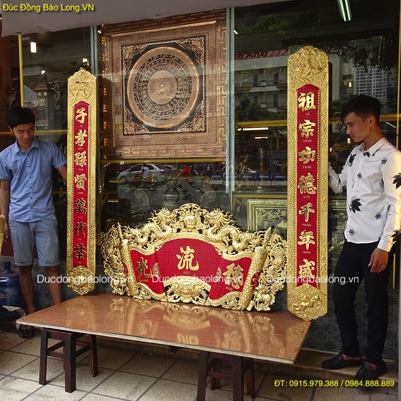 Cuốn Thư Câu Đối Mạ Vàng 1m55 treo bàn thờ.