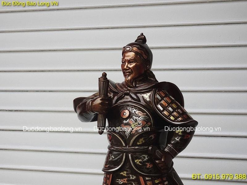 Tượng Trần Hưng Đạo 81cm khảm tam khí (Mẫu Mới)