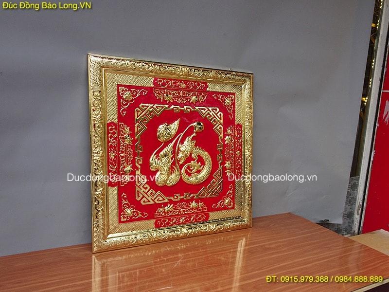 Tranh Chữ Phúc Mạ Vàng 88cm nền màu đỏ Đẹp