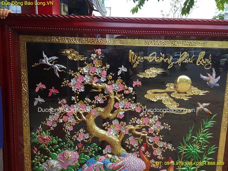 Tranh Đồng Ngọc Đường Phú Quý hàng đặt cho khách Đồng Nai