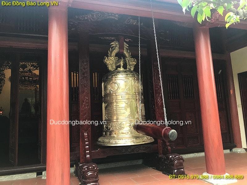 Đúc Chuông Đồng Vàng nặng 1,2 tấn cho Chùa