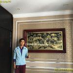 Treo Tranh Vinh Quy Bái Tổ cho Biệt Thự ở Vinhome Long Biên