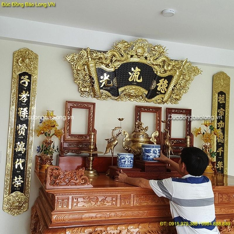 Bộ Đồ Thờ Cúng Gia Tiên cho bàn thờ dài 1m97