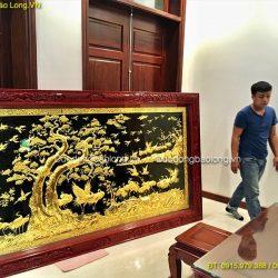 Treo Tranh Bách Hạc Quần Tùng 2m62 cho khách hàng ở Hà Nội