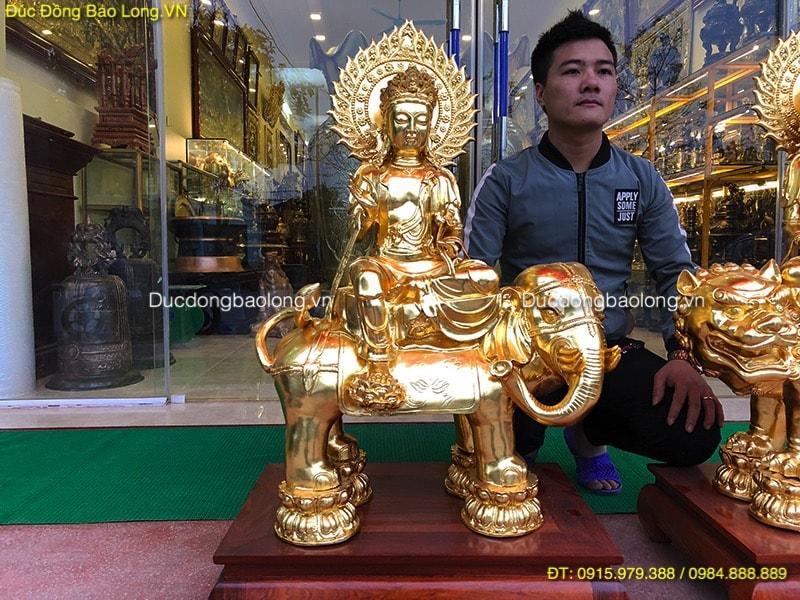 Tượng Văn Thù Phổ Hiền Bồ Tát cao 87cm