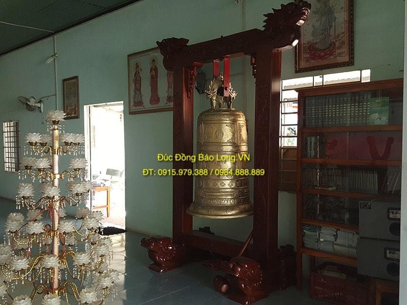 Chuông Đồng 600kg treo Chùa ở Bình Phước