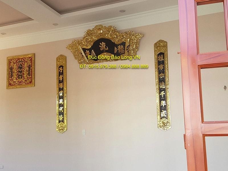 Cuốn Thư Câu Đối Đồng 1m97 treo thờ gia tiên