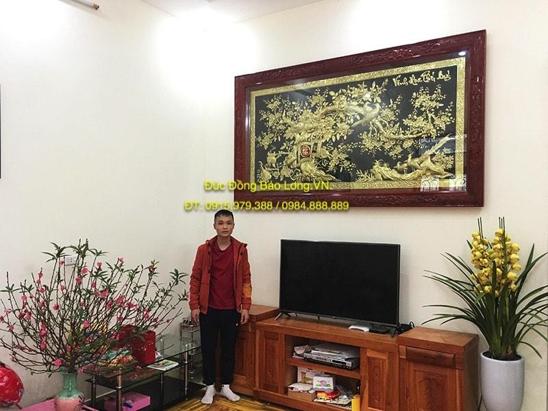 Tranh đồng Vinh Hoa Phú Quý 2m31 treo phòng khách