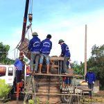 Toàn cảnh Đúc chuông chùa 1 Tấn chùa Phú Thị – Hưng Yên