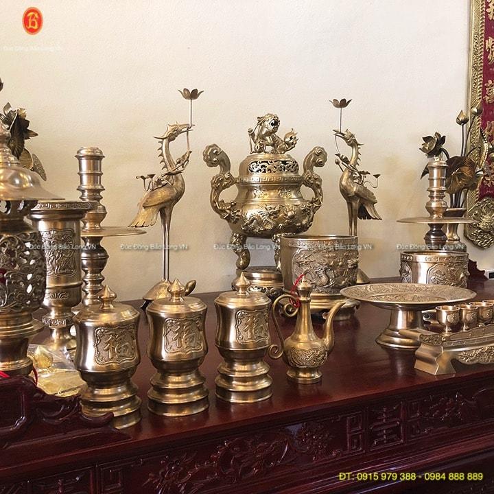 Đồ thờ bằng đồng Nam Định, đồng thau 60cm
