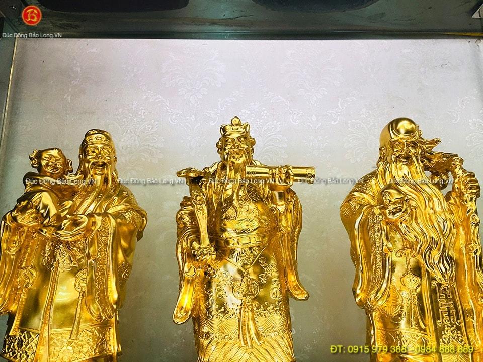 Tượng Tam Đa đẹp dát Vàng 9999 cao 33cm