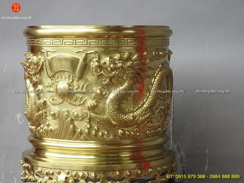bát hương bằng đồng 37cm