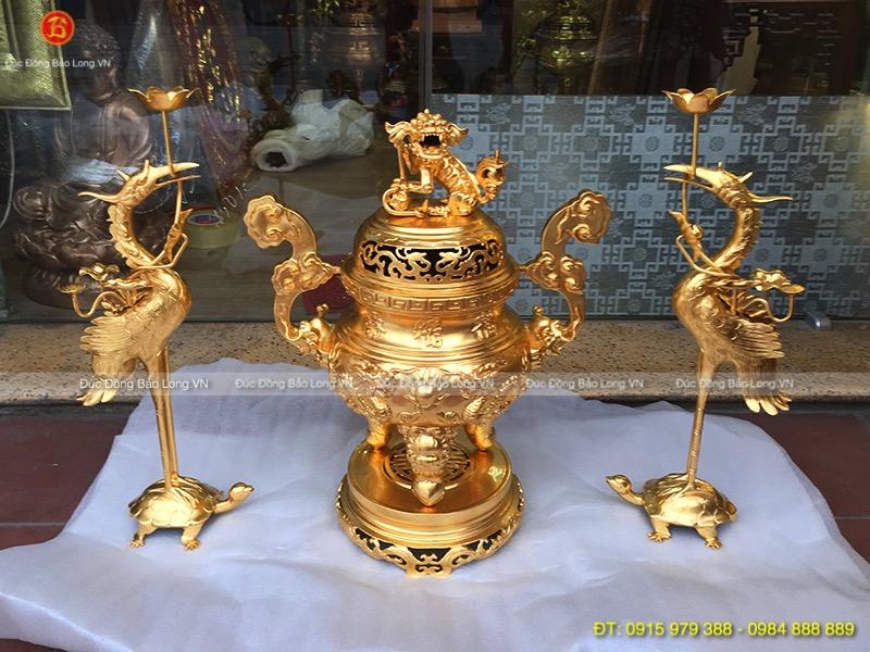 bộ tam sự đỉnh rồng dát vàng