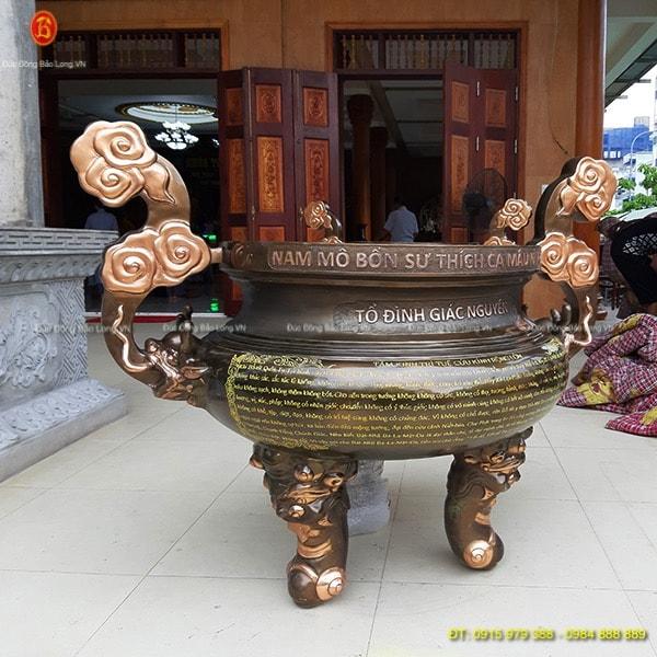 Lư Đồng Thắp Nhang 1m27 cho Chùa