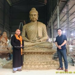Mẫu Tượng Phật Thích Ca 3m cho Chùa Từ Tâm