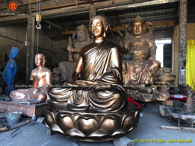 tượng phật thích ca bằng đồng cho chùa
