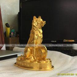 con chó dát vàng 18cm