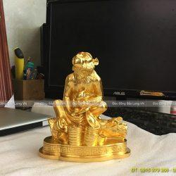 con khỉ dát vàng 17cm