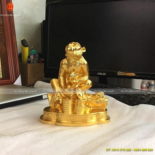 Con Khỉ Dát Vàng 9999 đẹp cao 17cm