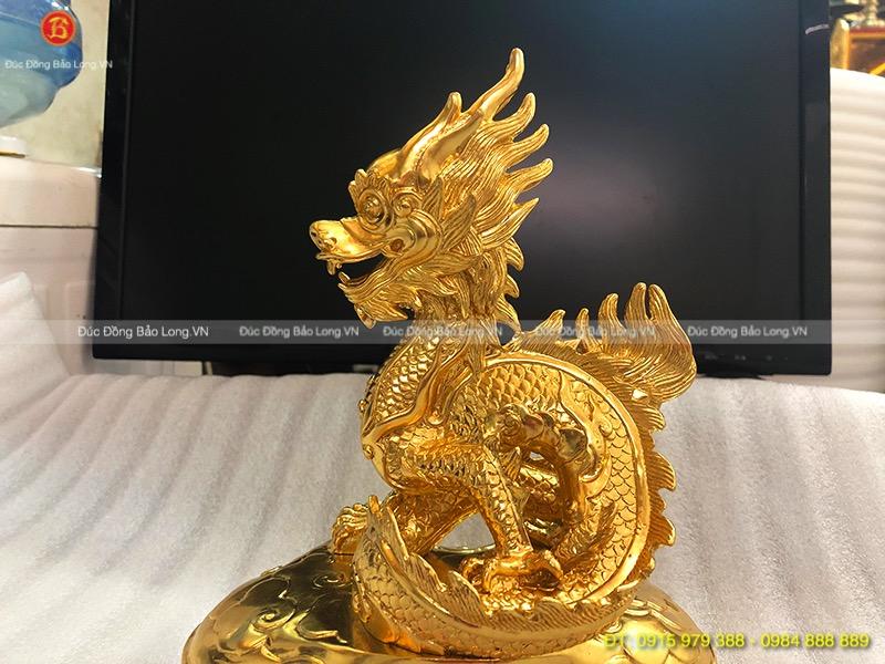 con rồng dát vàng cao 21cm