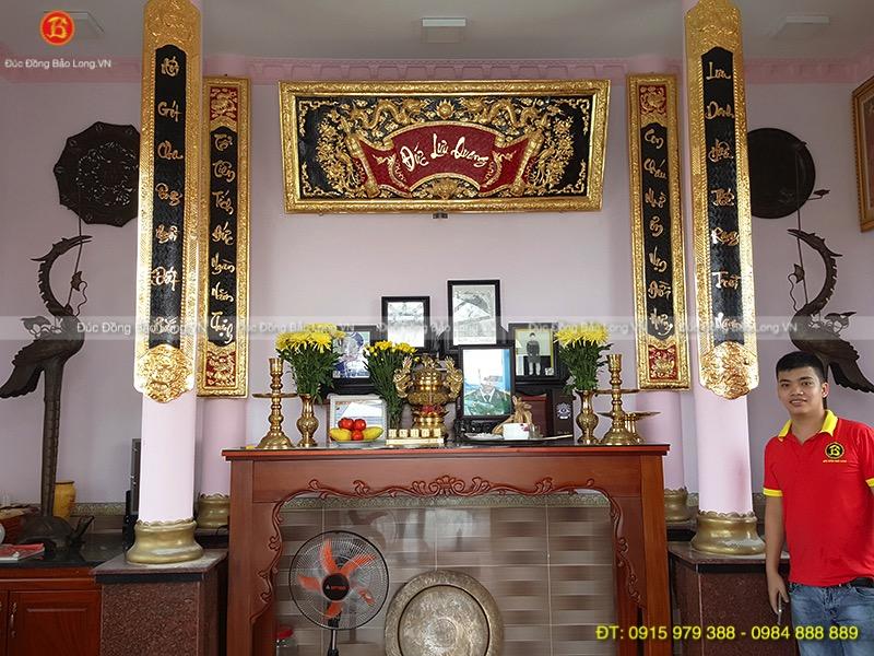 Hoành Phi Câu Đối Mạ Vàng 1m75 chữ Việt