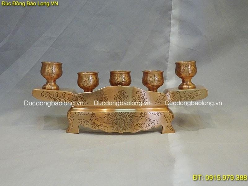 Đồ thờ bằng đồng tại Từ Liêm, khay chén bằng đồng