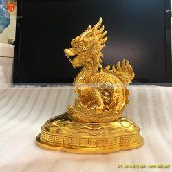 tượng con rồng dát vàng