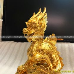 tượng rồng phong thuỷ dát vàng