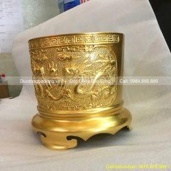 bát hương thờ cúng dát vàng