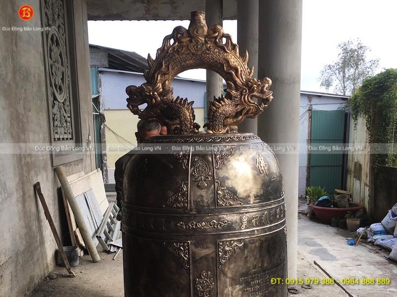 Chuông Đồng 1 Tấn đúc cho Chùa Bửu An