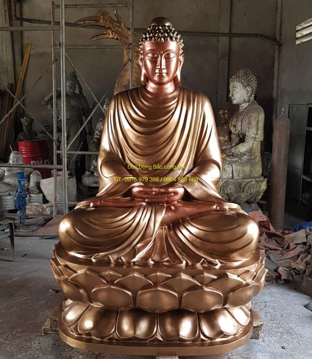 Đúc tượng Phật bằng đồng tại An Giang, tượng Thích Ca