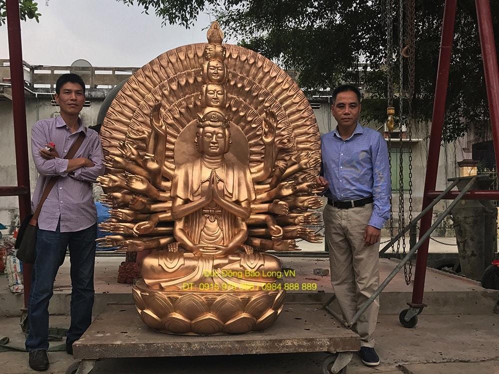 Đúc tượng phật bằng đồng tại Đồng Tháp, tượng Thiên Thủ Thiên Nhãn