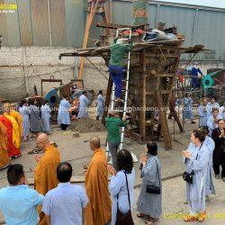 Đúc tượng Phật bằng đồng tại Hưng Yên