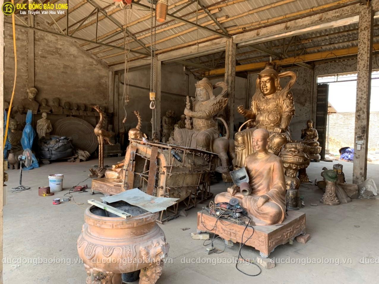 Đúc tượng Phật bằng đồng tại Lai Châu chất lượng