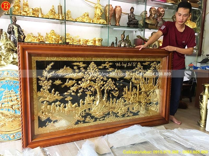 Tranh đồng Vinh Quy Bái Tổ 1m97 mạ vàng
