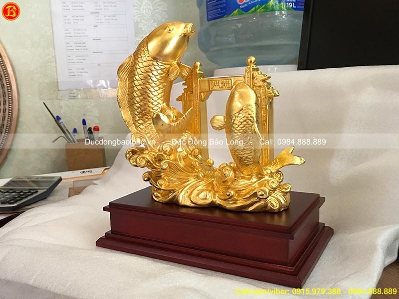 Cá Chép Vượt Vũ Môn dát vàng 9999