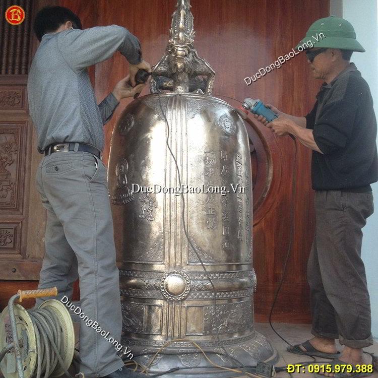 Hoàn thiện đúc chuông đồng tại Tuyên Quang