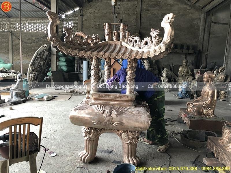 lư hương đồng mái chùa 1m97