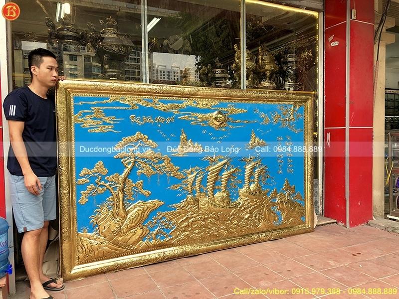 Tranh Thuận Buồm Xuôi Gió Nền Xanh 2m62