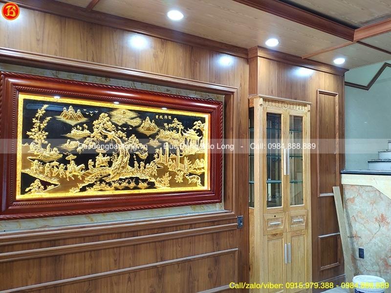 tranh vinh quy bái tổ mạ vàng 1m97