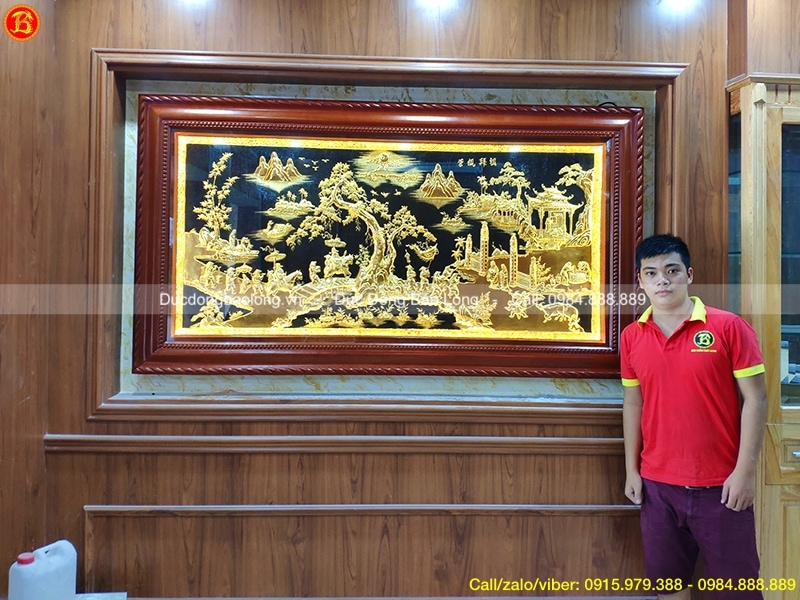 tranh vinh quy bái tổ mạ vàng