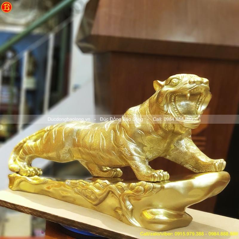 Tượng con Hổ bằng đồng cát tút dài 61cm