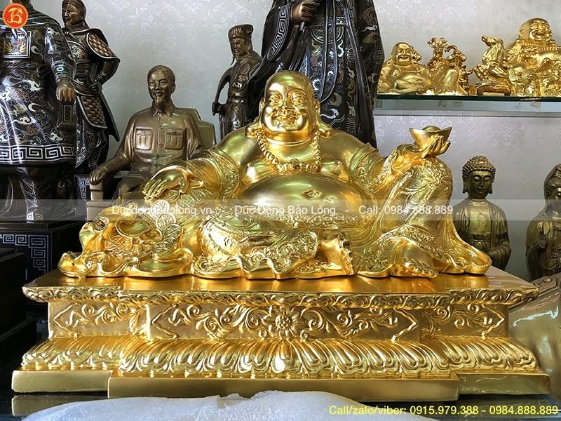 tượng di lặc bằng đồng dát vàng