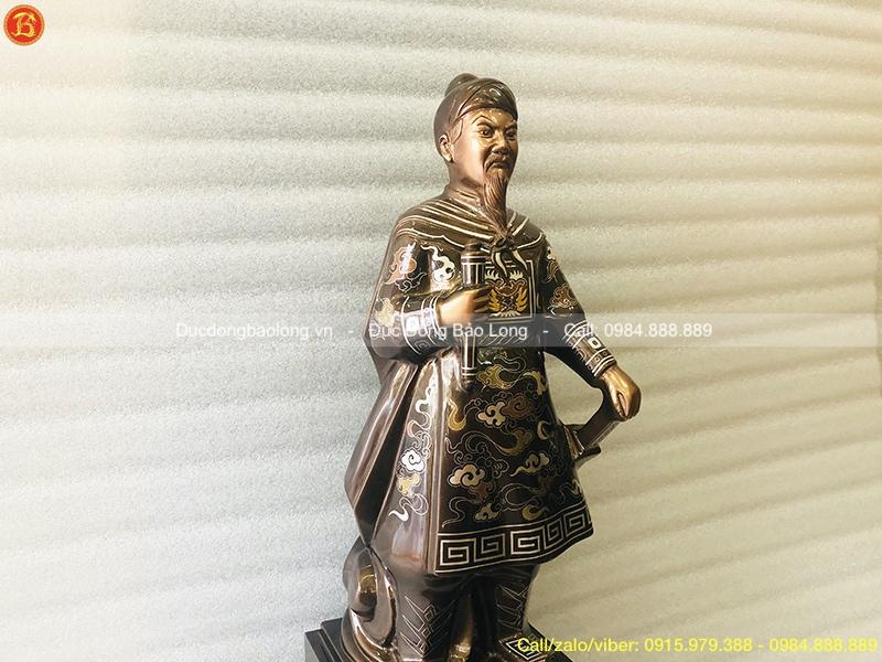 tượng đồng trần hưng đạo 48cm