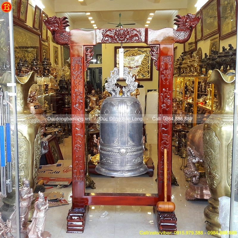 Chuông Đồng 200kg đúc cho Chùa ở Hậu Giang